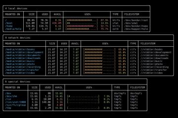 duf:比df命令更好用的磁盘用量查看命令